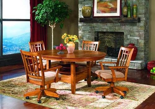 Upholstered Kitchen Chairs With Casters Home Decoration