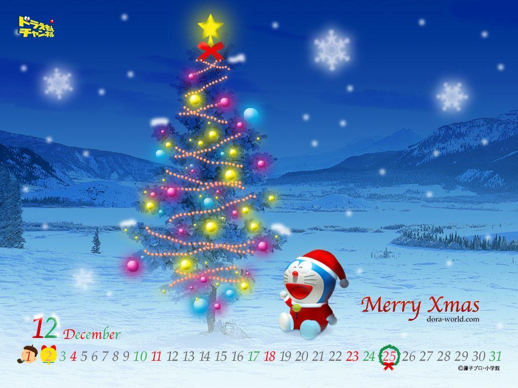 Best Christmas Screensavers Doraemon Wallpapers