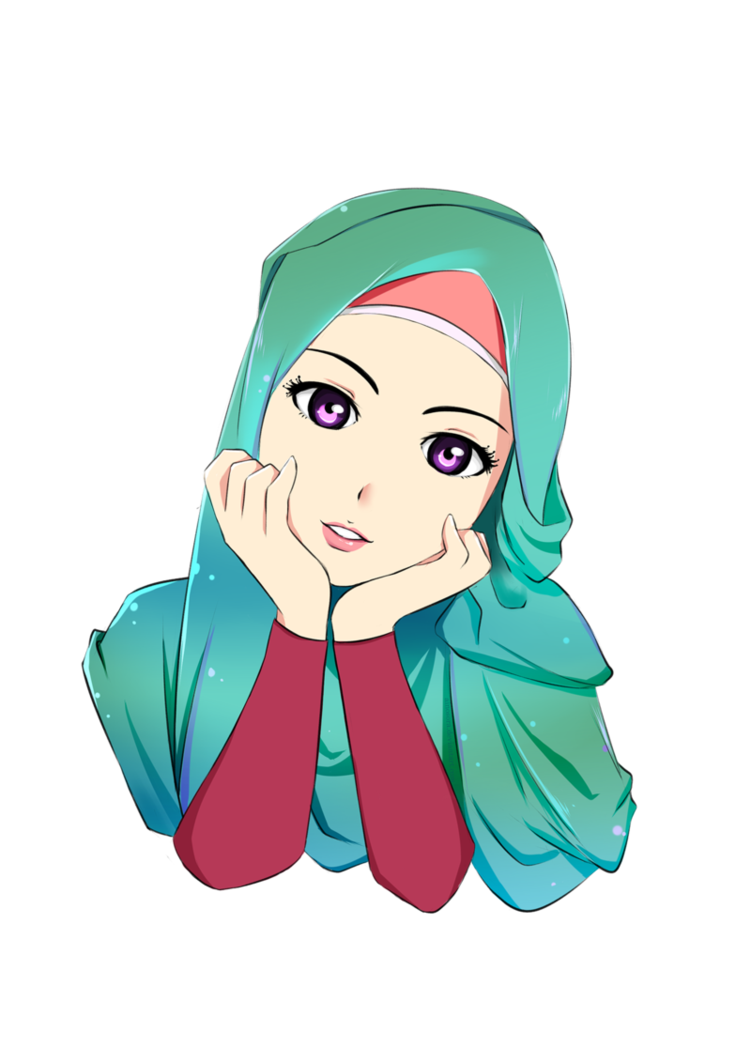 Ramah pengguna, anda dapat dengan mudah mengatur gambar sebagai wallpaper. Foto Kartun Hijab Islami   Top Gambar