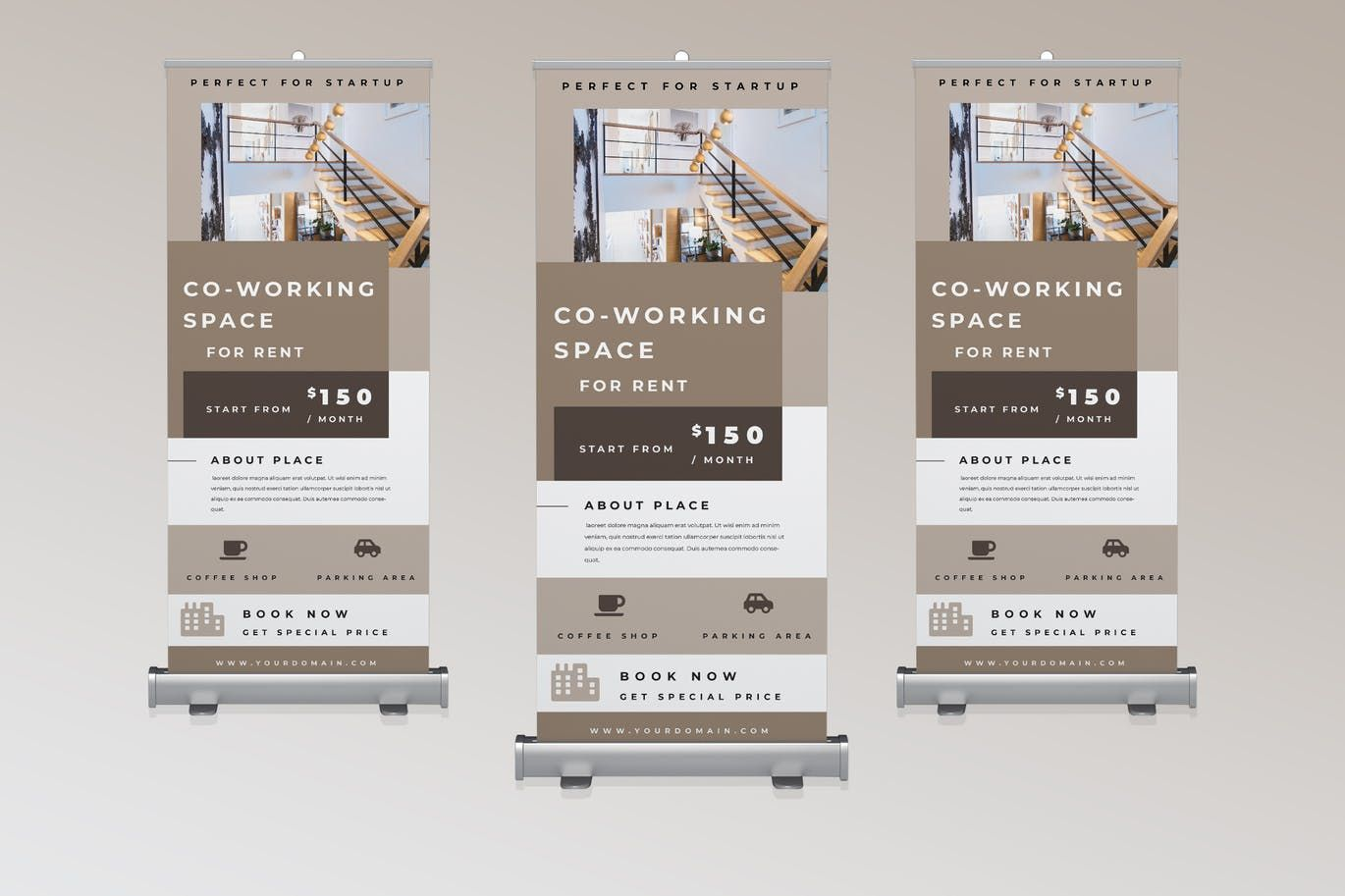 Property Rollup Banner Promotion By Tmint On Envato Elements Rollup Banner Business Cards Creative Templates Banner Template Design