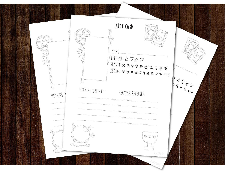 Tarot Cards Worksheet