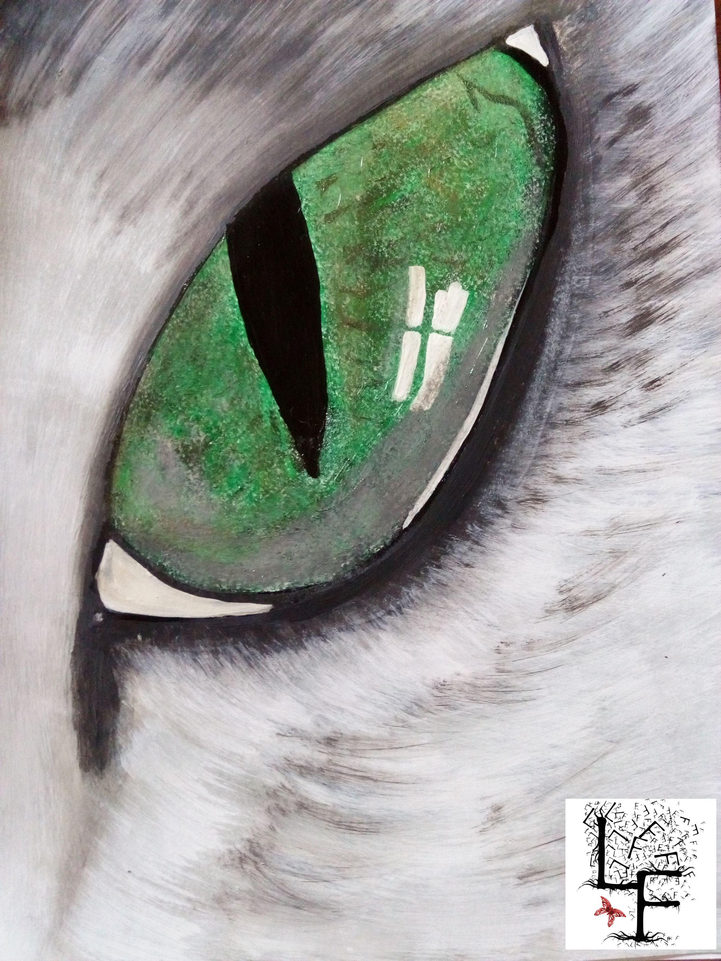 Oeil De Chat Acrylique Expressing Your World Dessin