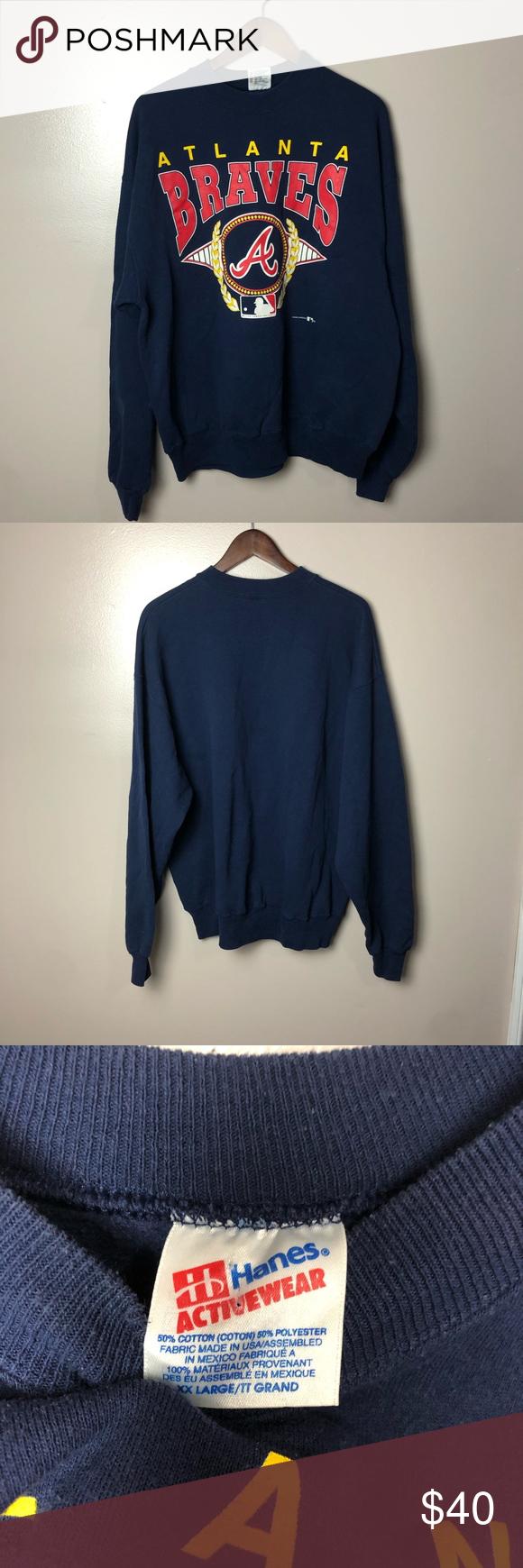 Vintage 1993 Atlanta Braves Baseball Sweatshirt In 2020 Baseball Sweatshirts Sweatshirts Atlanta Braves Baseball