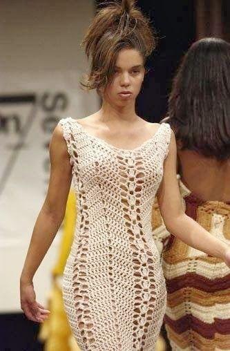 crochelinhasagulhas: Vestido de passarela em crochê
