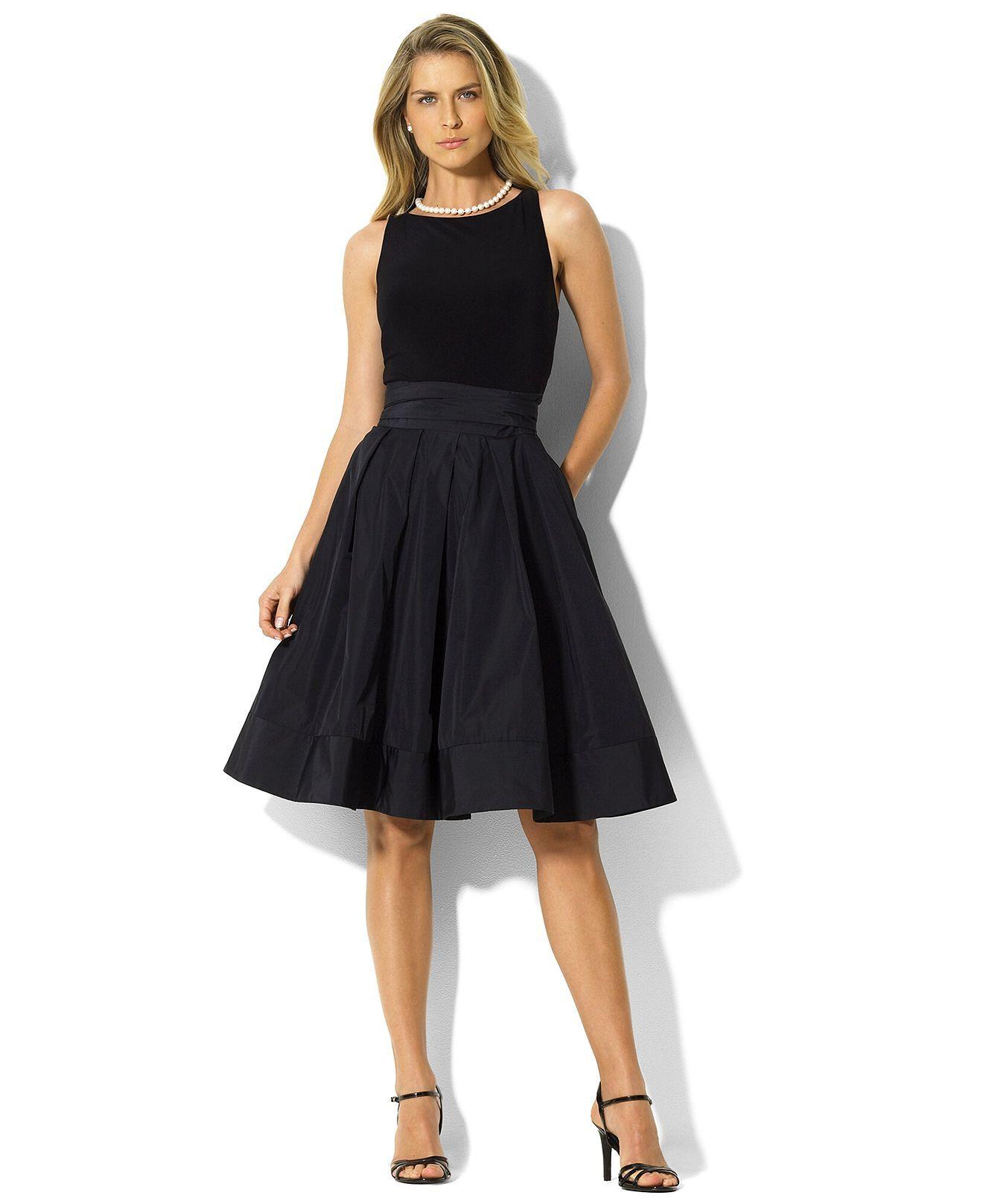 Lauren by Ralph Lauren Dress, Pleated Cocktail Dress - Womens ...