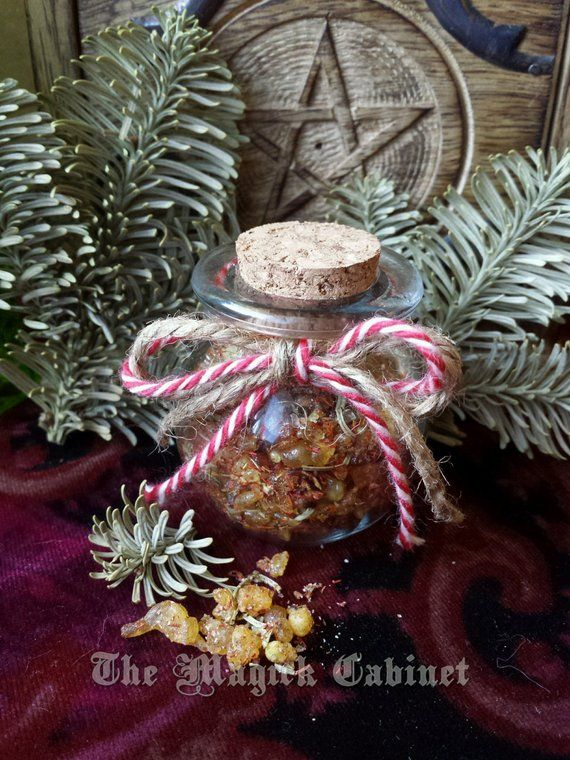 Wicca Christmas.Yule Dark Nights Incense Handmade Incense For Your Winter