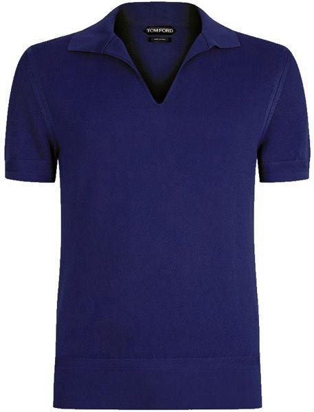 Cotton-terry Polo Shirt - BlueTom Ford 9o6dqi