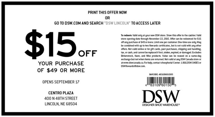 Print Coupon Dsw Dsw Shoes Coupons