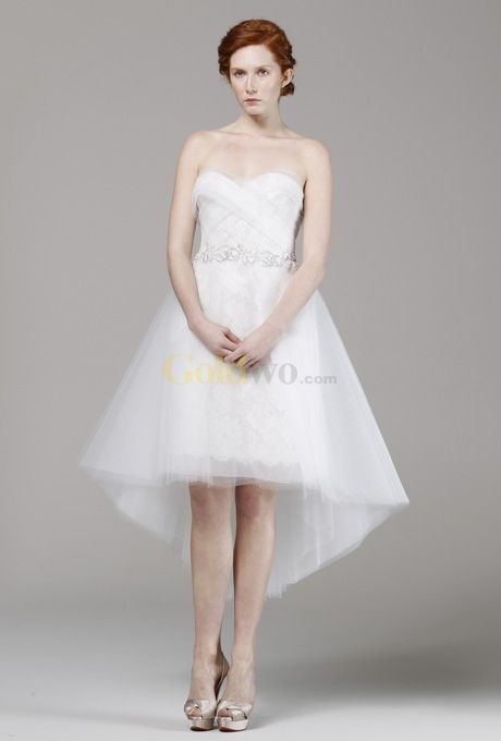 Wedding Mullet Dresses This Dainty Dress Plays With The Skirt Or High Low