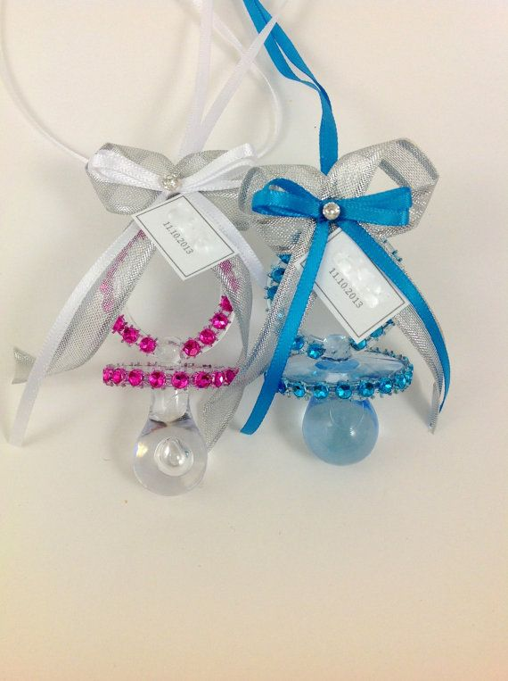 12 pcs Baby Shower Pacifier Necklace Personalized por ...
