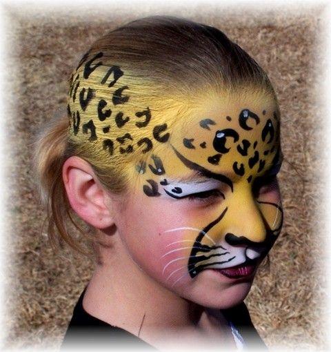 leopard face paint by creativefaces.co