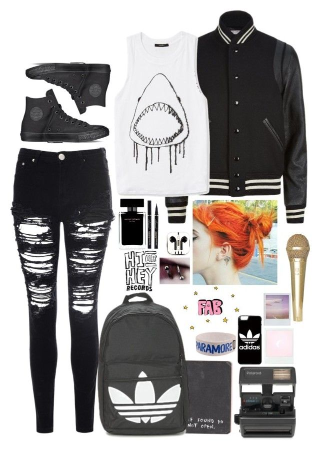 """Hailey// RTD"" by blueelephant115 ❤ liked on Polyvore featuring PhunkeeTree, Yves Saint Laurent, Glamorous, Converse, adidas, Narciso Rodriguez, Impossible and Forever 21"