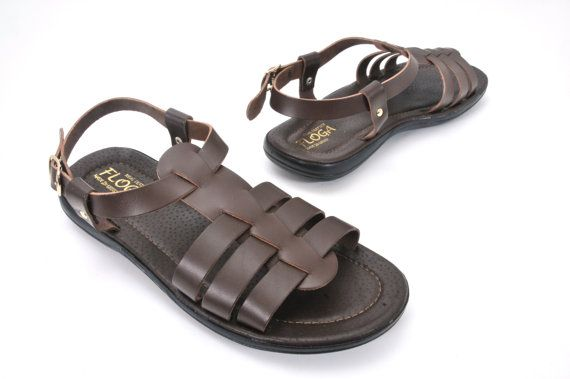 c48d221094a4e Greek leather sandals for men. Gladiator brown handmade leather ...
