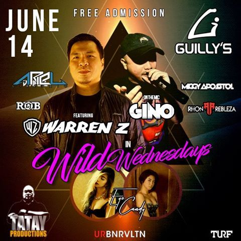 Wild Wednesday tonight at #guillysnightclubb 50% on local beers, and up to 30% off on premium bottles! #TatayProduction #theUrbanRevolution