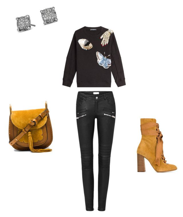 """Mustard"" by williamsnl ❤ liked on Polyvore featuring Alexander McQueen, Chloé and David Yurman"