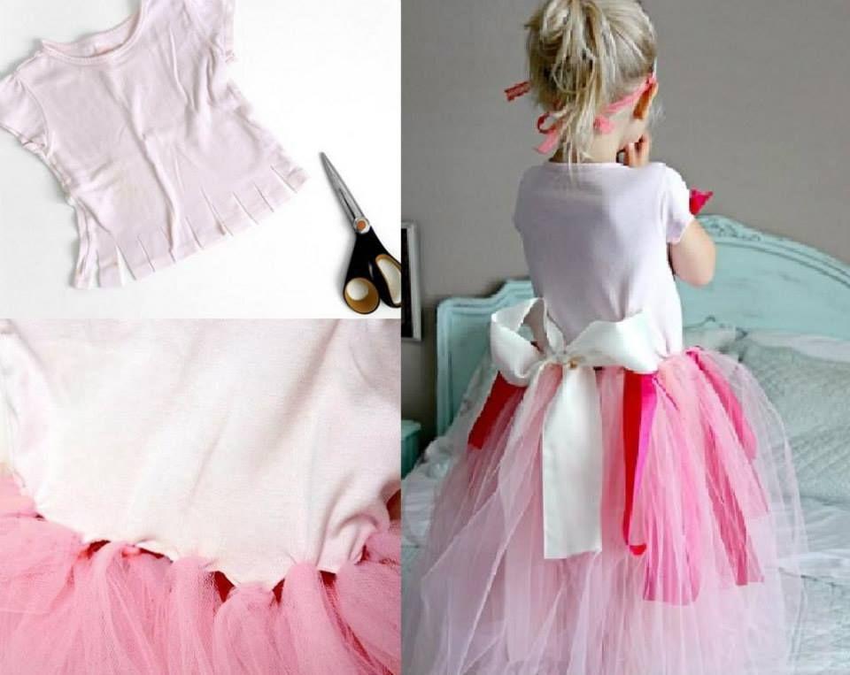disfraz de princesa hecho a mano. vestido princesa casero y fácil
