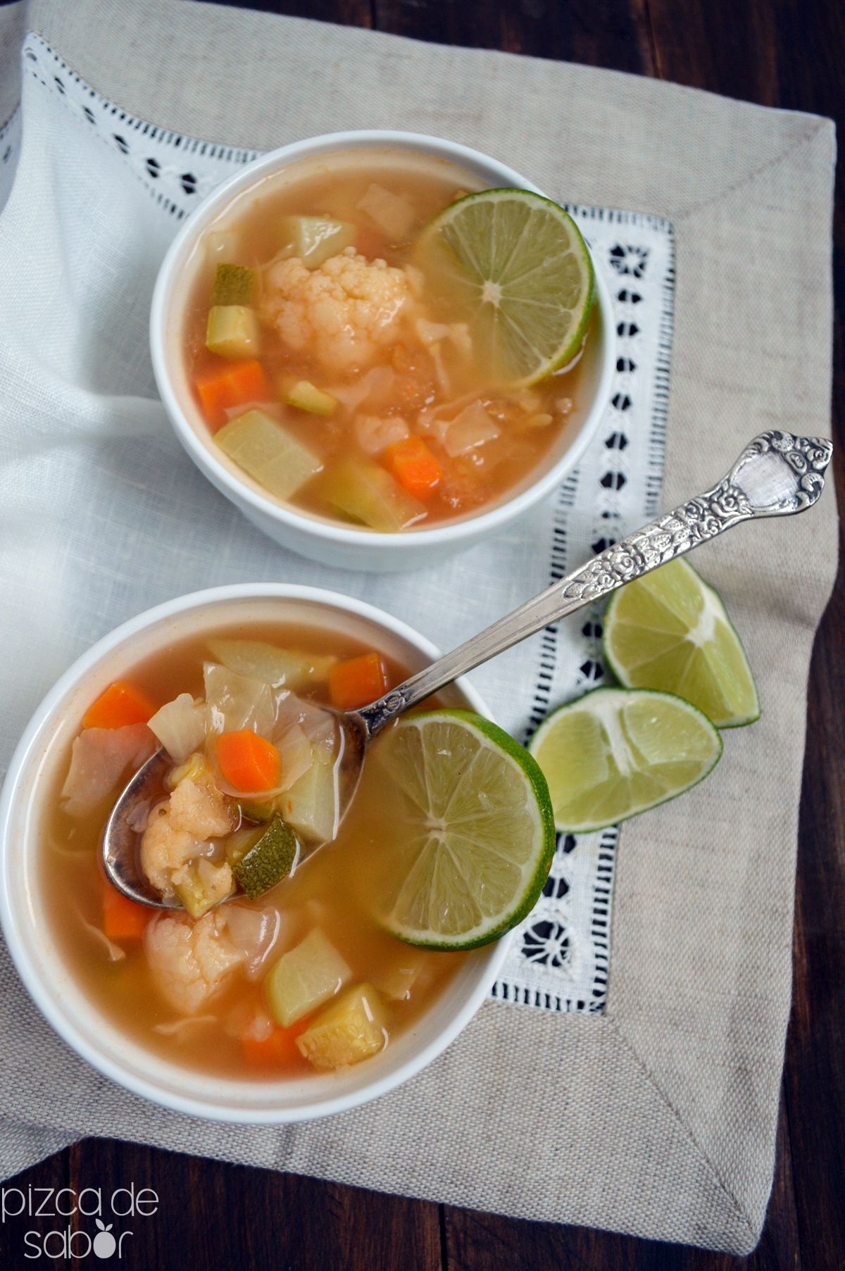 Como hacer una sopa de verduras para bajar de peso