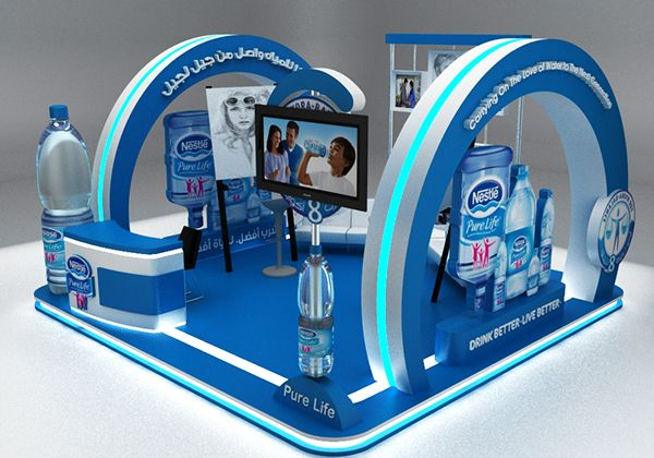 Exhibition Stand Options : Nestle pure life booth activation options on