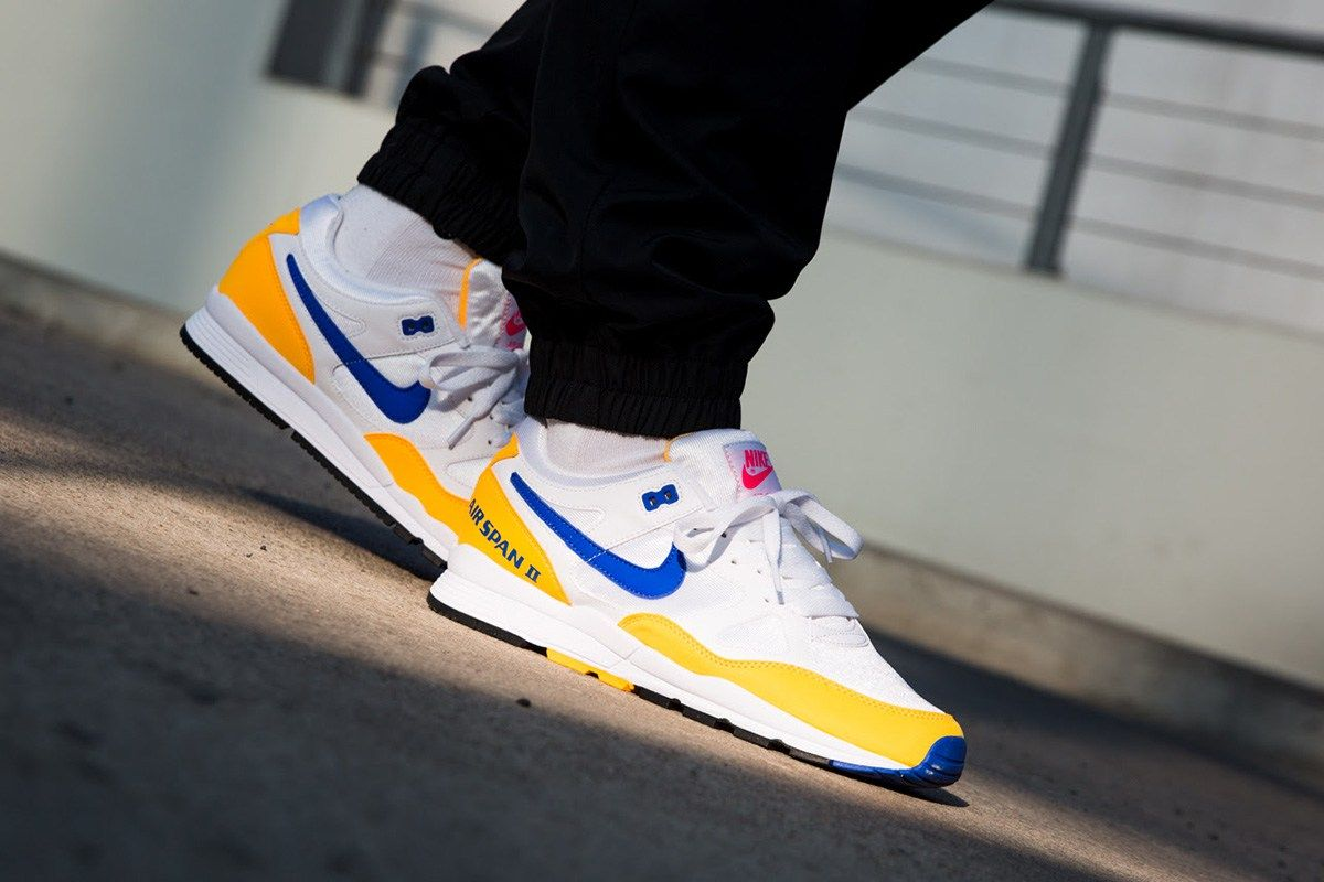 official photos 0785b c96c5 On-Foot Nike Air Span II in Two Colorways for February 2018 - EUKicks.com  Sneaker Magazine