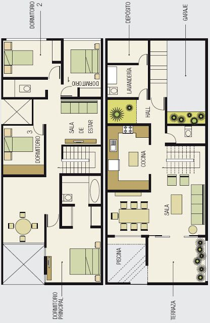 Planos de casa de playa hogar pinterest planos de for Casa moderna 6x6