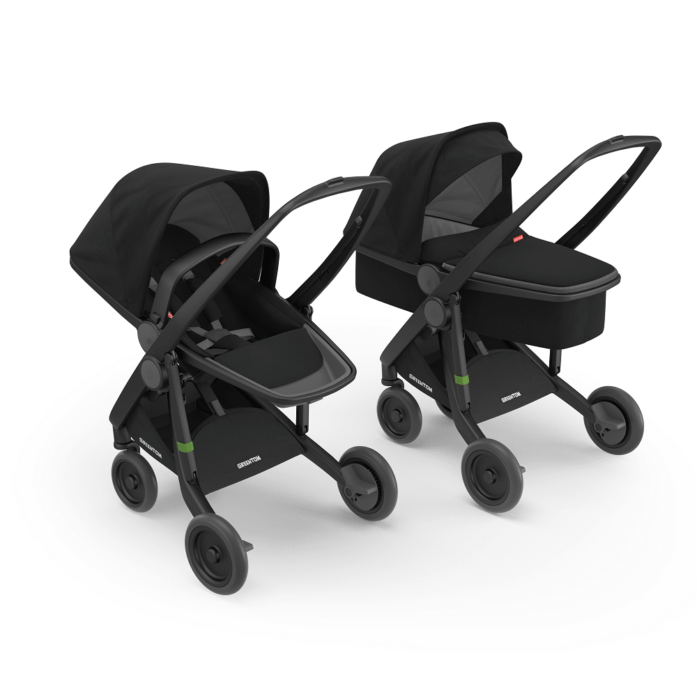 Greentom 2in1 Carrycot & Reversible with Black Frame