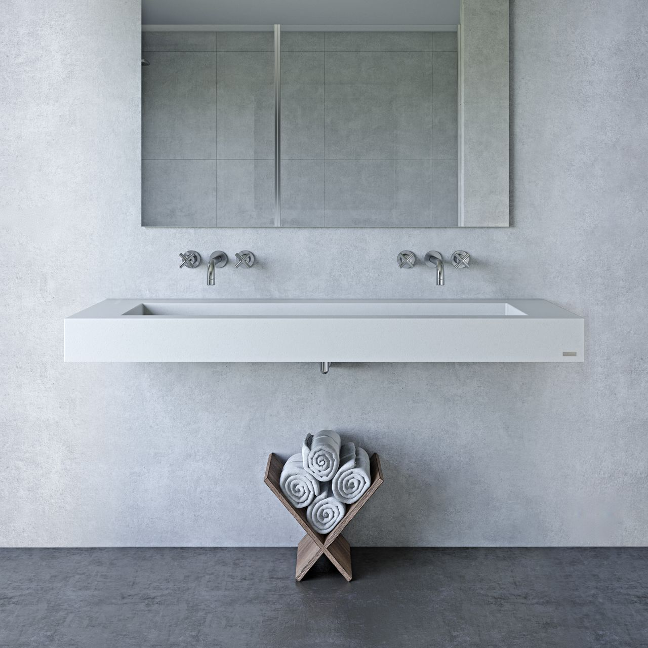"60"" ADA Floating Concrete Ramp Sink"