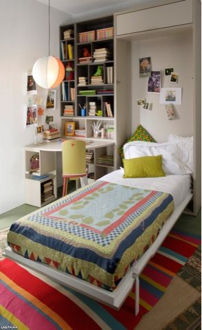 Camas plegables rebatibles para espacios reducidos - Dormitorios juveniles espacios pequenos ...
