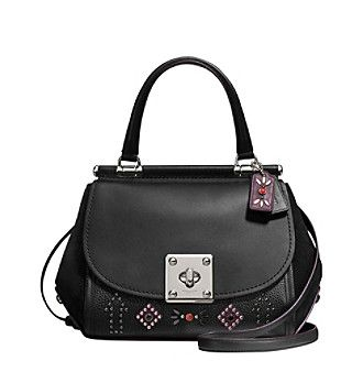 COACH DRIFTER TOP HANDLE IN GLOVETANNED LEATHER WITH WESTERN RIVETS