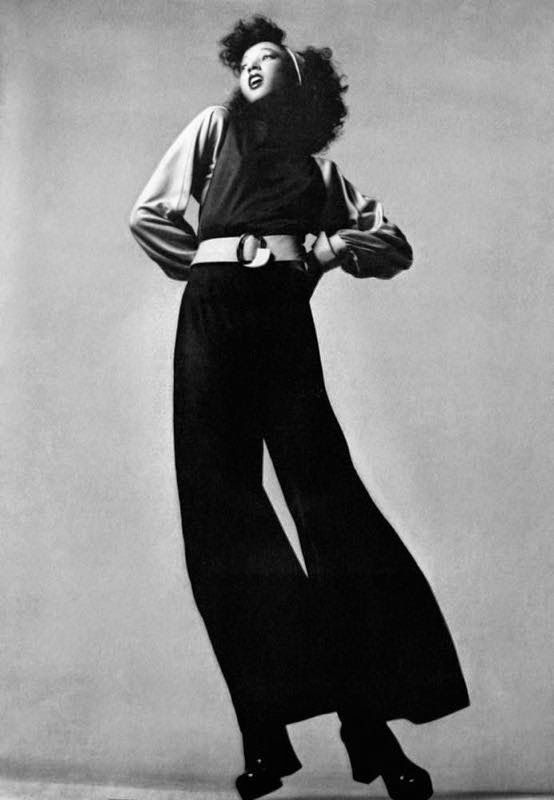 Pat Cleveland Is Wearing Galitzine Photo Jean Jacques Bugat Vogue Italia March 1972 Seventies Fashion Vogue Italia Fashion