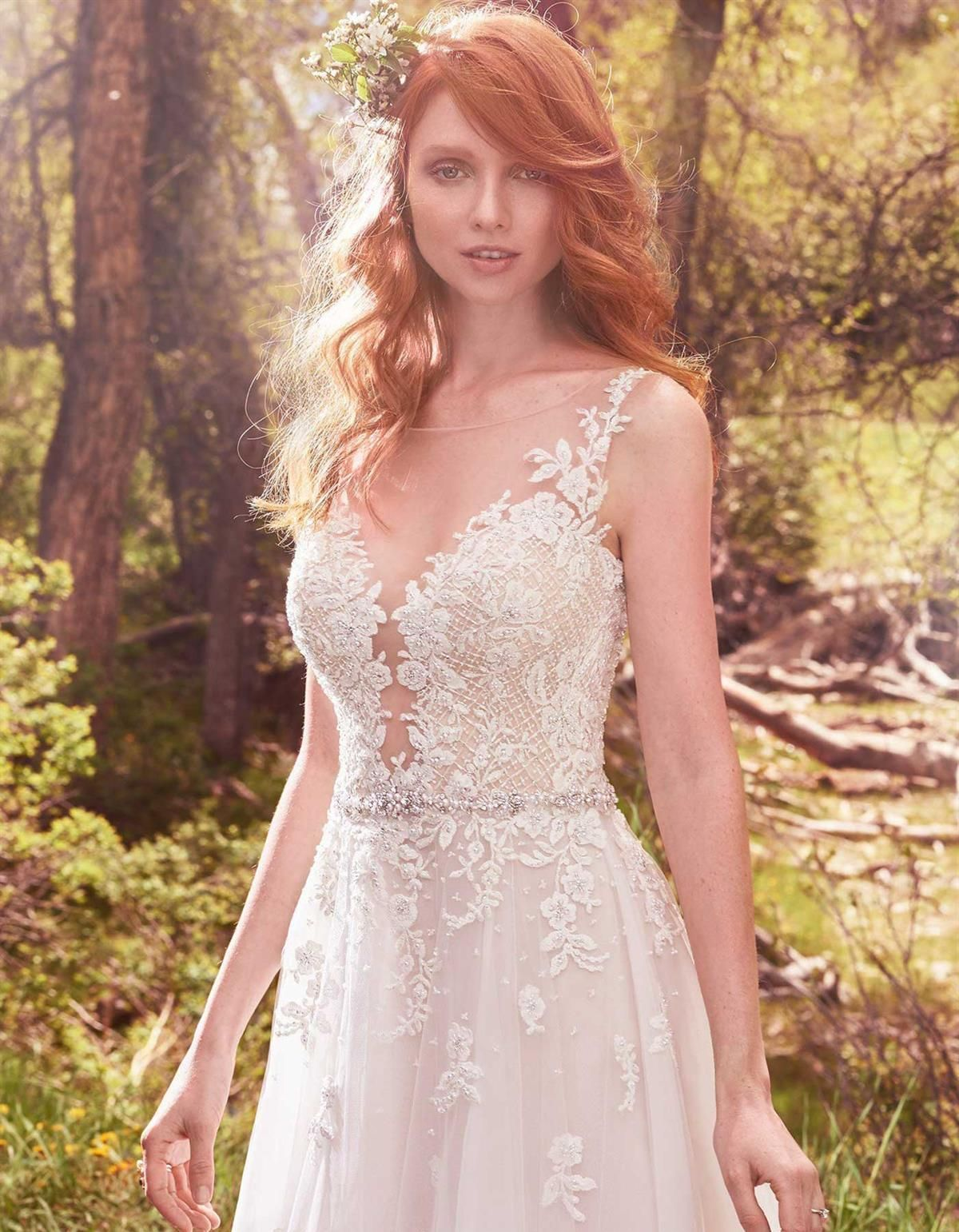 Avery lace wedding dress by Maggie Sottero. The Bride Guide; Styling ...