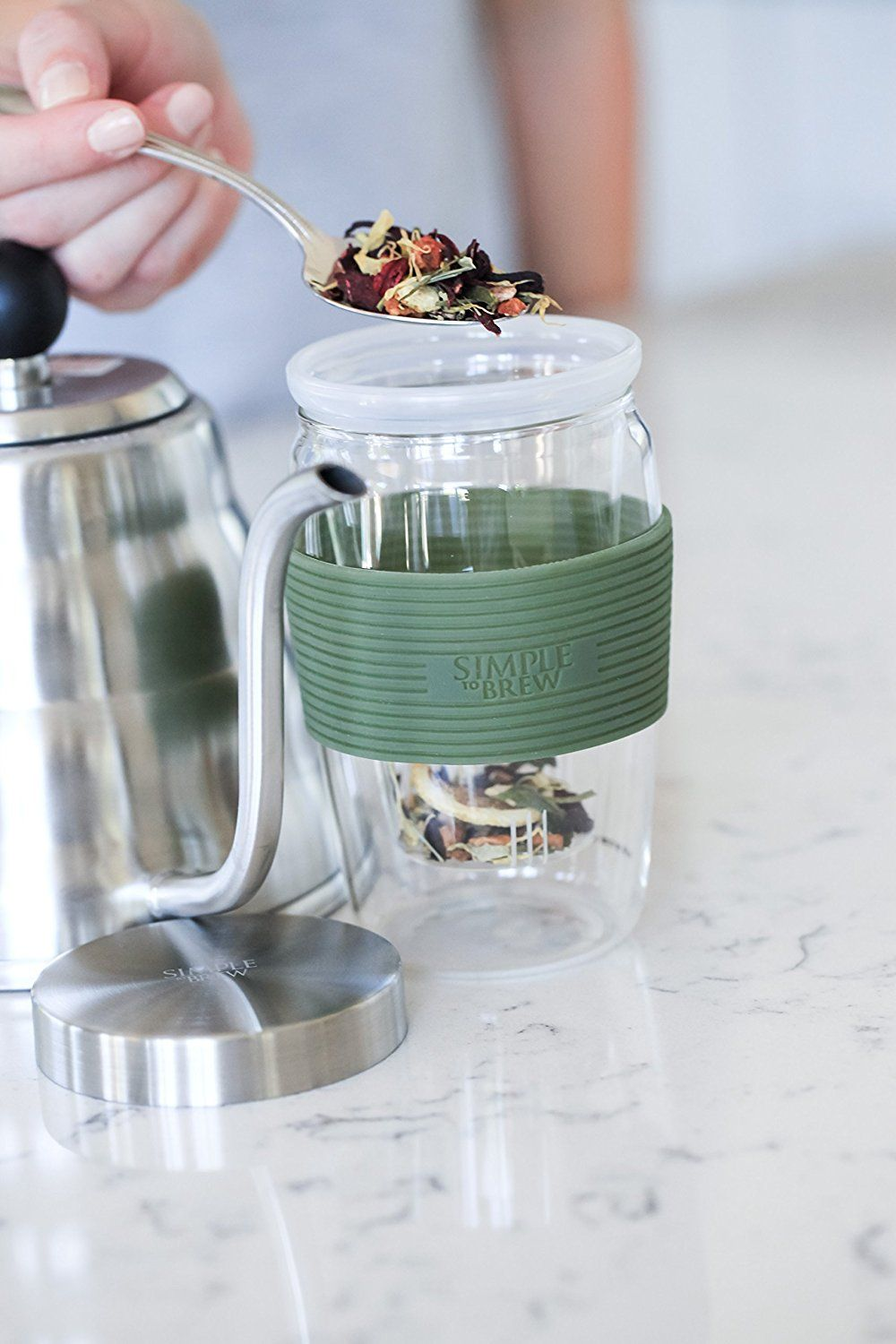 Simple to Brew Loose Leaf Tea Infuser Cup with
