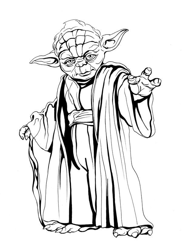 Master yoda 2 by callista1981 on deviantart lineart star wars in 2019 pinterest dessin - Yoda coloriage ...