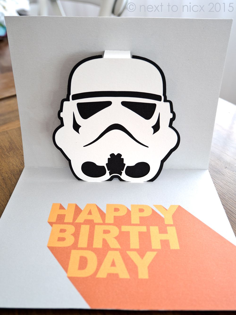 Stormtrooper Pop Up Card Cricut Birthday Cards Pop Up Card Templates Star Wars Cards