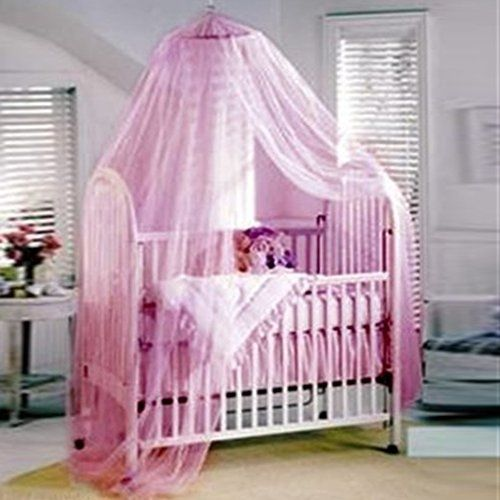 Netting Mosquito Bedding Kids Net Fit Twin Crib Round Hoop Bedroom Canopy Pink Dreamsstory Asianoriental