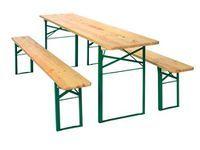Festzeltgarnitur Mit 70 Cm Breitem Tisch Garten Tisch Stuhl