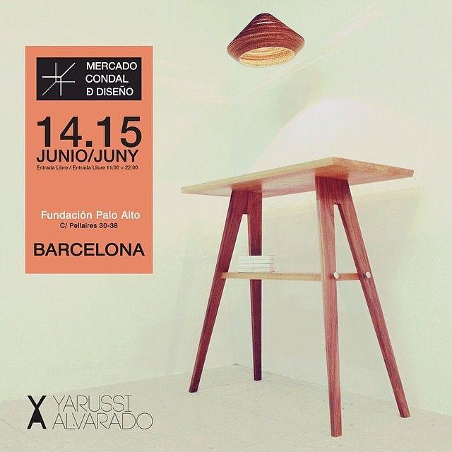 Este 14 y 15 de Junio estaremos en el Mercado Condal de Diseño. Si estás en Barcelona, ven a visitarnos!  Mas información en www.mercadocondaldediseno.com #barcelona #design #yarussi #alvarado #yarussialvarado #home #hogar #decoracion #decoration #interior #luxury #lamp #lamps #light #lighting #living #designers