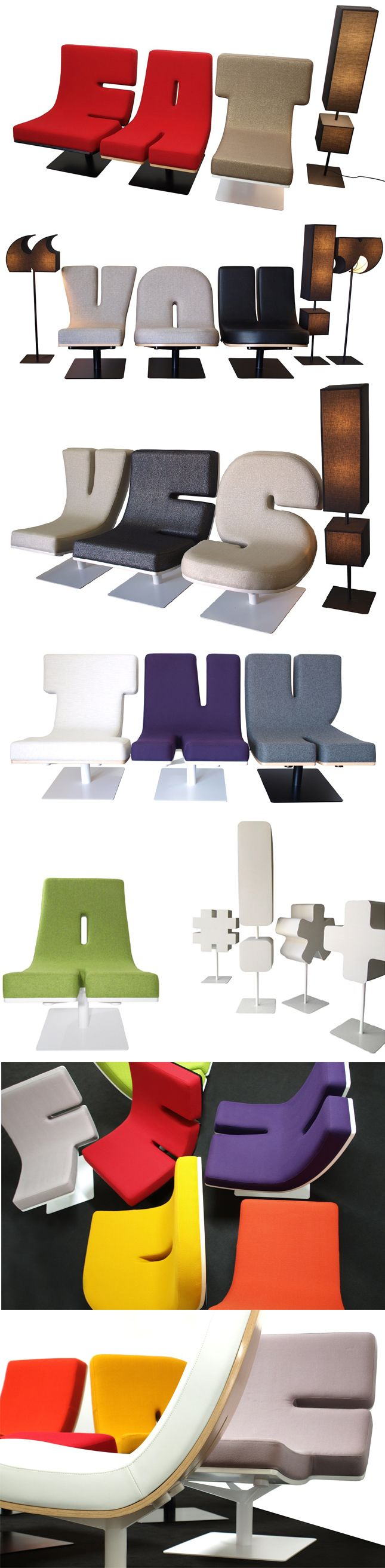 Cool office reception chairs - Typigraphic Furniture Fun Such A Great Way To Personalize Your Home Or Office