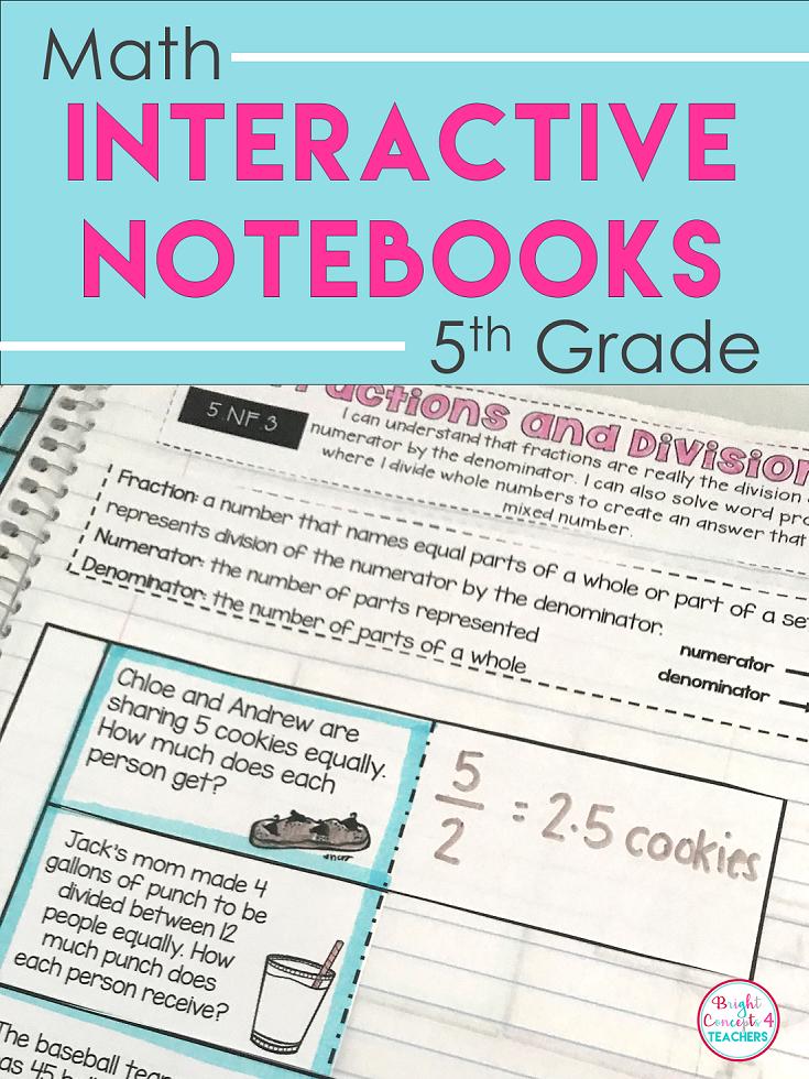 5th Grade Math Interactive Notebook {Common Core Aligned}   Decimal ...