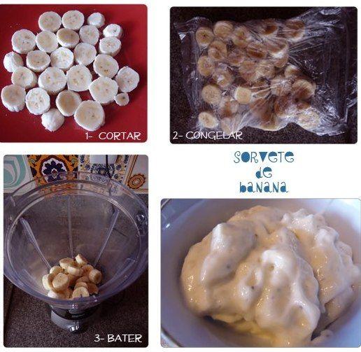 sorvete de banana natural