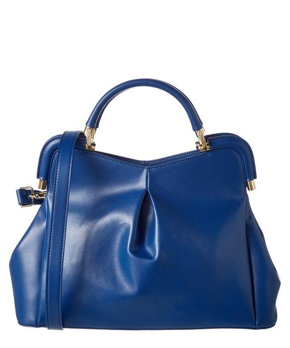 c411dded9f39 Segolene En Cuir Florrie Leather Frame Handbag