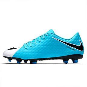 nike hypervenom phade iii fg soccer shoes (white blue) soccerevolution