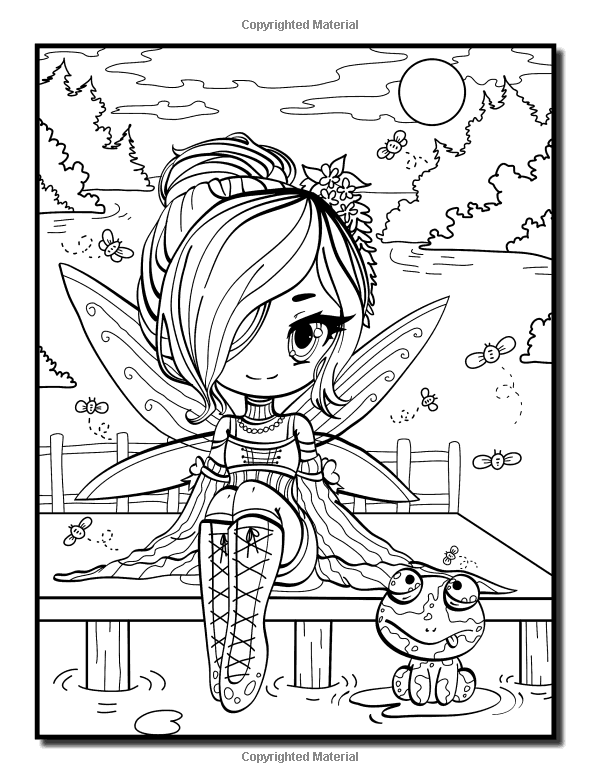 Amazon.com: Chibi Girls: Un libro para colorear con adultos ...