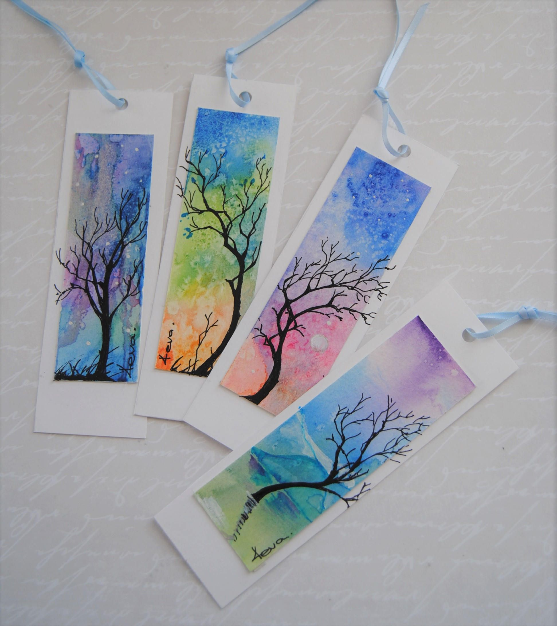 10 Fun Diy Bookmarks Watercolor Bookmarks Creative Bookmarks