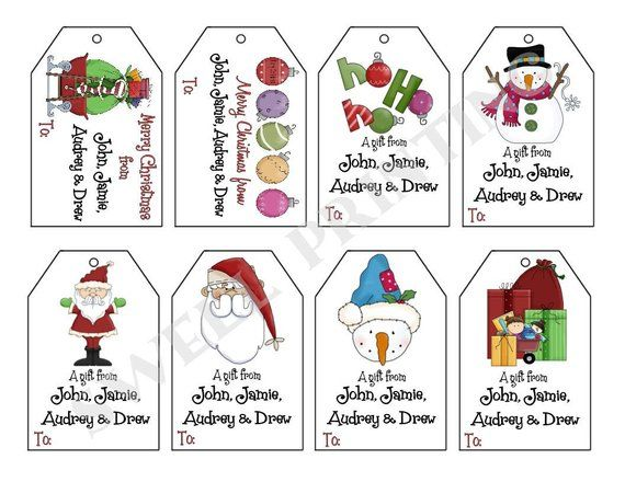 16 Printed Personalized Christmas Iii Gift Tags By Swell Printing Free Printable Christmas Gift Tags Free Printable Gift Tags Christmas Gift Tags Free