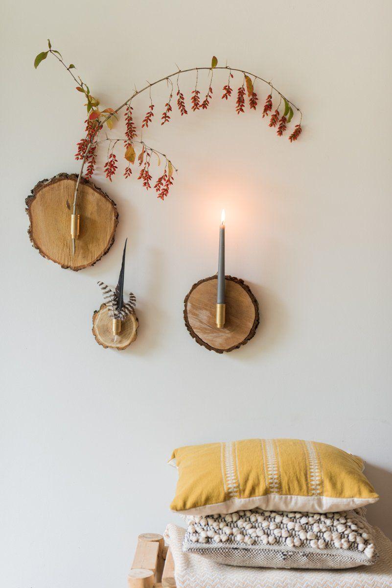 DIY - herbstliche Wanddeko aus Baumscheiben #wanddekowohnzimmer