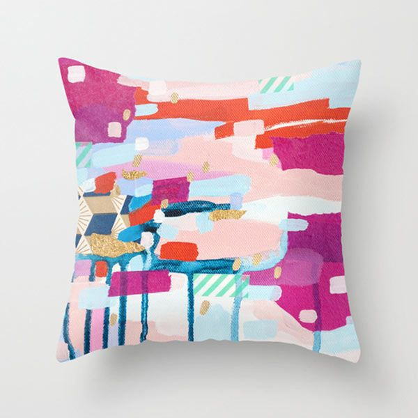 Asking For Directions Pillow By Emily Rickard Throw Pillows Pillows Abstract Throw Pillow