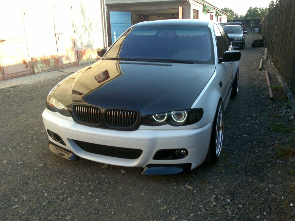 medium resolution of modified bmw e46 328i white this is the cleanest headlight modification makes the car look meaner