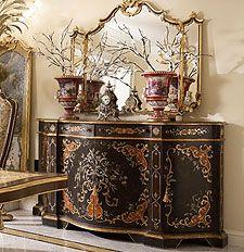 Mobili per il soggiorno classico e di lusso in stile ...