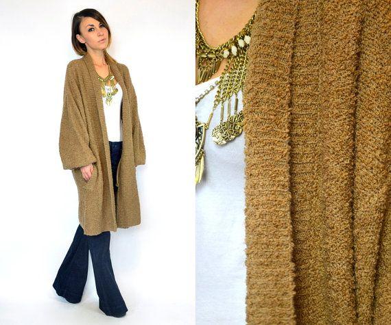 vintage 1980s oversized CAMEL bouclé POET sweater | winter ...