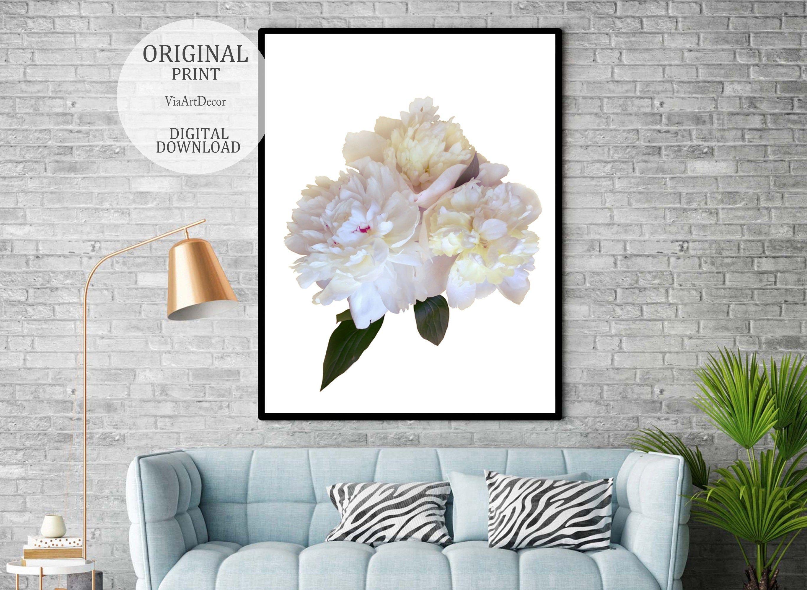 Peony Art Print Floral Wall Decor Printable Pastel Flower Etsy Wall Decor Printables Floral Wall Decor Peonies Art Print
